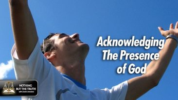 Acknowledging The Presence of God - Man with his arms in the air