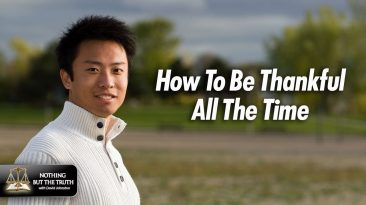 Asian Man in Henly Sweater - How to be thankful all the time