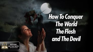 How to Conquer The World, The Flesh, and The Devil - Woman Praying in front of medieval Knights