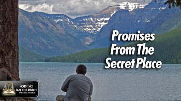 Promises From the Secret Place - Man sitting on a lakeside