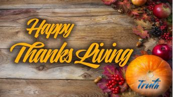 Thanks Living is the Only Way To Celebrate Thanksgiving