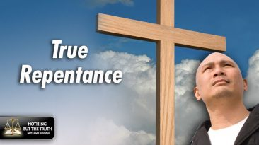 True Repentance - Cross and Man